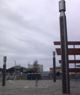 Bronze cast poupou Vector Arena Auckland